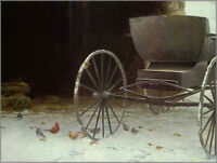 Old Buggy and Winter Birds by Robert Bateman Artists Proof