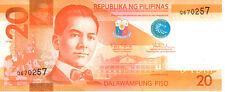 Philippines 20 Piso 2012 P206 Mint Unc