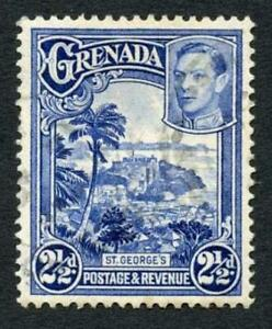 Grenada SG157a 2 1/2d Perf 12.5 x 13.5 RARE STAMP Superb used Cat 190 pounds