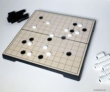 GAME OF GO (WEIQI, BADUK) MAGNETIC TRAVEL SET '13 LINE' BOARD 9¼ inches (828)