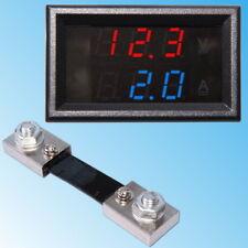 100V Voltmeter 100A Ammeter with Shunt DC Dual Digital LED Display Panel Module