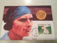 25 Cent Stamp Olympian Hazel Wightman 1990 FDC First Day Cover 7/6/1990 MN