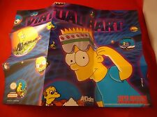 Virtual Bart The Simpsons Super Nintendo SNES Foldable Promo Poster Insert ONLY