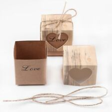 Paper Kraft Candy Box With Rustic Burlap Twine Wedding Decoration Gift Favors