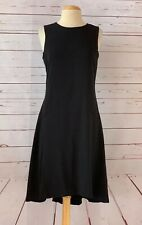 MAGGY LONDON Women's Size 4 Black Sleeveless  Shift Dress Solid Midi A-line LN