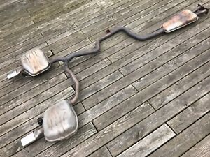 Volvo 3.2L S80 Cat Back OEM Exhaust System Mufflers Resonator Pipes