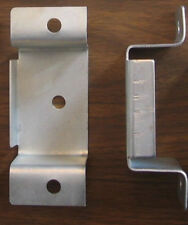 Stake Bed Pockets Pair Set 2 Steel Bolt On Accepts 2x4 Wood Stakes Straight Lip