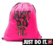 Nike Just Do It Drawstring Gym Bag Sack Pink  rucksack   sport gym swimming
