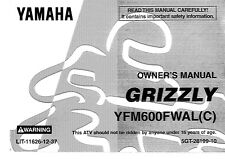 Yamaha Owners Manual Book 1999 Grizzly 600 YFM600FWAL(C)