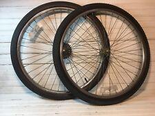 Vintage Cheng Shin Wheelset Hubs Chrome Freewheel Mid School BMX Sun Metal