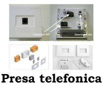 PRESA TELEFONICA PLUG RJ11 NUOVA ORIGINALI TELECOM + SCATOLA OMAGGIO