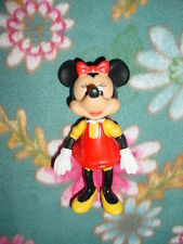 Walt Disney Minnie Mouse-Red-Moveable arms-legs Plastic Figurine Figure Toy Doll