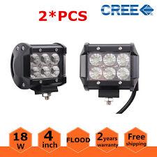2x 18W Flood Pods LED Work Light Bar Truck Driving Lights 4WD Ford FOG 12V 24V