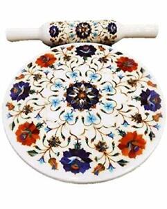 Main Marbre Chakla Bois Belan Roulant Broche Board Set 25.4cm Pour Roti De