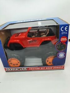 Hotrodz Toy Friction Off Road Red Jeep