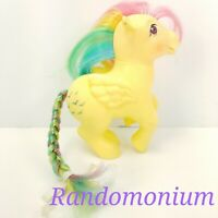 Vintage 1983 My Little Pony Skydancer Pegasus G1 Hasbro MLP Yellow Glitter Birds