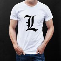 Top Tees Anime Death Note Cotton T Shirt Print Short Sleeve T-shirt Size XXS-4XL