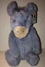"""Jellycat Donkey Plush Bashful Blue Purple Stuffed Animal Toy 14"""""""