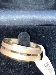 King Will Tungsten Wedding Band Size 10