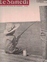 Le Samedi Magazine June 7 1952 Boy Fishing Jacques Normand  Willie Mays
