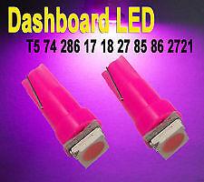 T5 LED Pink Car Light Bulbs 5mm Dash Cluster 5mm Wedge Lights VT VX WH