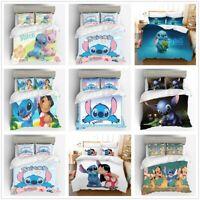 3D Disney Stitch Lilo Kids Bedding Set Duvet Cover Pillowcase  Without Comforter