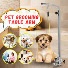 Adjustable Pet Dog Cat Grooming Bath Table Arm Stainless Steel Folding W/ Leash