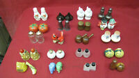 Vintage Antique Lot of 20 Salt & Pepper Shakers