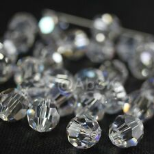 48 pieces Swarovski Element 5000 faceted 5mm Round Ball Beads Crystal Clear