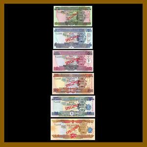 Solomon Islands 2-100 Dollars (6 Pcs Full Set), 2004-2006 P-25S-30s Specimen Unc