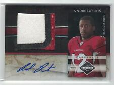 2010 ANDRE ROBERTS PANINI LIMITED PRIME ROOKIE 3 COLOR JUMBO PATCH Auto /25 RPA