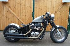 170 mm breiter 15 Zoll Bobber Stahlfender für Motorrad Custom Bikes + Sticker