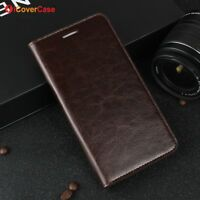 Luxury Genuine Leather Wallet Flip Case Stand Cover For Huawei Mate 9