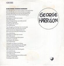 7inch GEORGE HARRISONdark horseFRANCE EX (S1745)