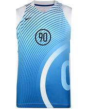 Mens New Nike T90 Dri-Fit Vest Tank Top Sleeveless T-Shirt Singlet - Blue White