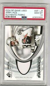 Jerry Rice 2004 Upper Deck UD SP Game Used Jersey Patch PSA 10 GEM MINT *POP 4*