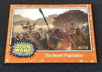 Star Wars RISE OF SKYWALKER TOPPS - ORANGE Parallel 40/50 Card #101!