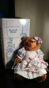 Robert Raikes Bears--Sophie- NEW in box  COA  Complete-- Hand signed
