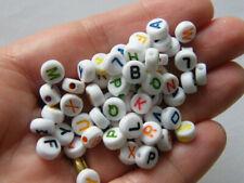 500 Acrylic round alphabet letter RANDOM beads AB25