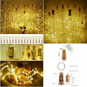 """Wine Bottle Cork Lights 15Pack 10 LED/ 40"""" Battery Operated Shape Per Wire Color"""