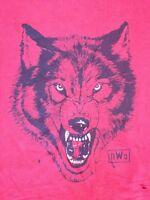 NWO Wrestling Distressed WOLF New World Order Red Cotton T-shirt Mens XXL 2XL