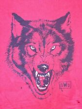 NWO Wrestling Distressed WOLF New World Order Red Cotton T-shirt Mens XXL 2XL