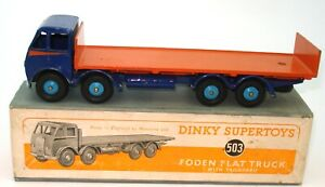 DINKY NO. 503 FODEN FLAT TRUCK WITH TAILBOARD - BOXED - $3000 BOOK PRICE - RARE!