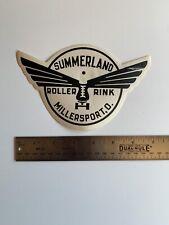 Vintage Unused Mid-Century Roller Skating Rink Decal Luggage Millerport Ohio