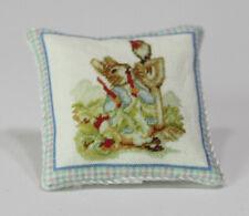 Dollhouse Miniature Peter Rabbit Pillow by Itsy Bitsy Mini
