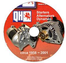 Quinton Hazell Starters & Alternators Catalogue  DVD-ROM circa 1958 ~ 2001