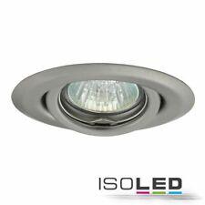 Einbaurahmen für GU4 MR11 LED Spot 35mm (rund, chrom-matt, schwenkbar)