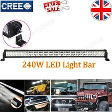 42Inch 240W Led Work Light Bar Spot&Flood Combo Driving Roof Lamp Offroad NEW UK