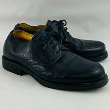 Mens 10EEE Sandro Moscoloni Vineyard Oxford Shoes Black Pebbled Leather Lace Up