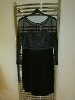 BNWT Beautiful Special Occasion beaded black dress Artigiano Cornelli Size 14